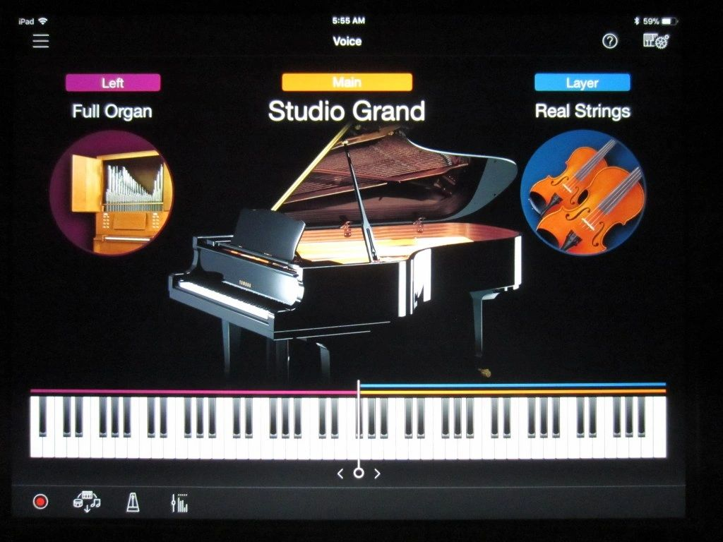 Yamaha Smart Pianist instrument sound control